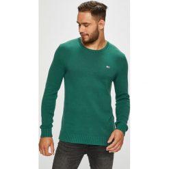 Tommy Jeans - Sweter. Szare swetry klasyczne męskie Tommy Jeans, l, z bawełny, z okrągłym kołnierzem. Za 299,90 zł.