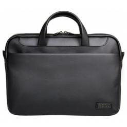 """Port Designs Zurich 15.6"""" czarna. Czarne plecaki męskie Port Designs, w paski, ze skóry. W wyprzedaży za 139,00 zł."""