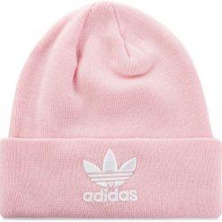 Czapka adidas - Trefoil Beanie DH4299  Clpink. Czerwone czapki damskie Adidas, z materiału. Za 89,95 zł.