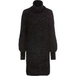 Sukienka dzianinowa z szenili: must have bonprix czarny. Czarne sukienki dzianinowe marki bonprix. Za 109,99 zł.
