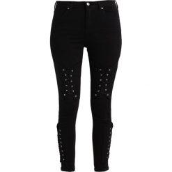 Topshop CORSET KNEE JAMIE  Jeans Skinny Fit black. Czarne jeansy damskie marki Topshop, z bawełny. W wyprzedaży za 159,50 zł.