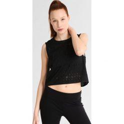 Under Armour LADDER Koszulka sportowa black/tonal. Czarne topy sportowe damskie marki Under Armour, xl, z materiału. W wyprzedaży za 174,30 zł.