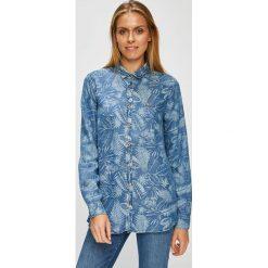 U.S. Polo - Koszula. Niebieskie koszule wiązane damskie U.S. Polo, s, z lyocellu, casualowe, z włoskim kołnierzykiem, z długim rękawem. W wyprzedaży za 399,90 zł.