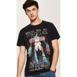 T-shirt z nadrukiem Rick and Morty - Czarny. Czarne t-shirty męskie z nadrukiem marki House, l. Za 59,99 zł.