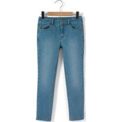 Dżinsy skinny. Szare spodnie chłopięce La Redoute Collections, z bawełny, z standardowym stanem. Za 70,52 zł.