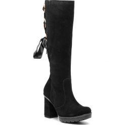 Kozaki CALLAGHAN - Bali 23306 Negro. Czarne buty zimowe damskie Callaghan, z materiału, na obcasie. W wyprzedaży za 569,00 zł.