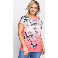 Koralowy T-shirt This Life. Pomarańczowe bluzki damskie Born2be, l. Za 24,99 zł.