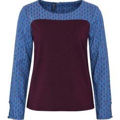 """Bluzki asymetryczne: Koszulka """"Hasel"""" w kolorze ciemnofioletowym"""
