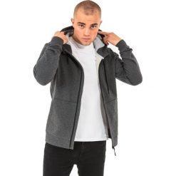 Bluzy męskie: 4f Bluza męska z kapturem H4L18-BLM003 ciemnoszara r. L