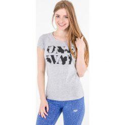 Bluzki damskie: 4f Koszulka damska H4L17-TSD013 jasny szary melanż r. XS (H4L17-TSD013)