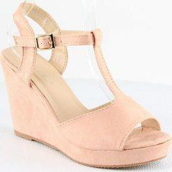 Rzymianki damskie: Sandały w kolorze jasnoróżowym