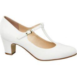 Buty ślubne damskie: czółenka damskie Graceland białe