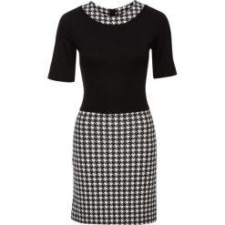 Sukienki: Sukienka bonprix czarno-biały twill