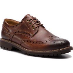 Półbuty CLARKS - Montacute Wing 203517867 Dark Tan Leather. Brązowe półbuty skórzane męskie Clarks. W wyprzedaży za 299,00 zł.