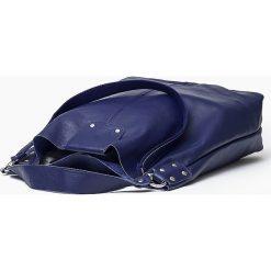 Skórzana Torebka Shoperka granatowa GISELA. Niebieskie torebki klasyczne damskie Vera Pelle, ze skóry. Za 329,00 zł.