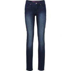 """Dżinsy """"Super skinny"""" bonprix ciemny denim. Niebieskie jeansy damskie bonprix, z denimu. Za 74,99 zł."""
