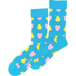 Skarpetki damskie: Niebieskie Skarpetki Fruit Happy Socks