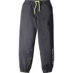 Chinosy chłopięce: Spodnie ocieplane z odblaskowymi elementami, na miękkiej bawełnianej podszewce bonprix szary