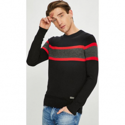 Brave Soul - Sweter. Brązowe swetry klasyczne męskie marki Brave Soul, l, z bawełny, z okrągłym kołnierzem. W wyprzedaży za 59,90 zł.