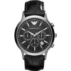 Zegarek EMPORIO ARMANI - Renato AR2447  Black/Silver/Steel. Szare zegarki męskie marki Emporio Armani, l, z nadrukiem, z bawełny, z okrągłym kołnierzem. Za 1149,00 zł.