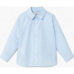 Mango Kids - Koszula dziecięca Shirby2 80-104 cm. Szare koszule chłopięce z długim rękawem Mango Kids, w kratkę, z bawełny, z klasycznym kołnierzykiem. W wyprzedaży za 39,90 zł.