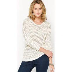 Kardigany damskie: Sweterek 2 w 1 z wzorzystej dzianiny