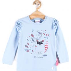 Koszulka. Niebieskie bluzki dziewczęce bawełniane marki FOREST HEART, z aplikacjami, z długim rękawem. Za 29,90 zł.