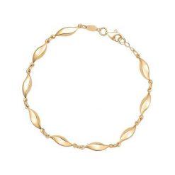 Bransoletka Złota - złoto żółte 585. Żółte bransoletki damskie na nogę marki W.KRUK, złote. Za 1590,00 zł.