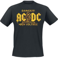 AC/DC Danger! - High Voltage T-Shirt czarny. Czarne t-shirty męskie marki Caliban, s. Za 74,90 zł.