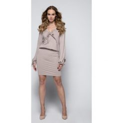 Sukienki hiszpanki: Sukienka z troczkami i244
