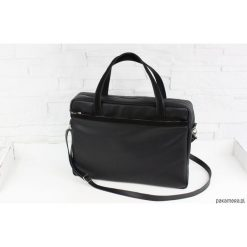 Shopper bag damskie: Skórzana My. Q black classic L/D