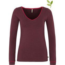 """Bluzki asymetryczne: Koszulka """"Malena"""" w kolorze ciemnofioletowym"""