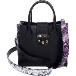 Torebki klasyczne damskie: Skórzana torebka w kolorze czarnym – (S)23 x (W)30 x (G)11 cm