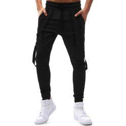 Joggery męskie: Spodnie męskie joggery czarne (ux1175)