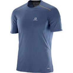 Salomon Koszulka męska Trail Runner Tee niebieska r. XL (393855). Szare koszulki sportowe męskie marki Salomon, z gore-texu, na sznurówki, outdoorowe, gore-tex. Za 107,15 zł.