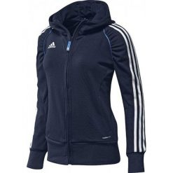 Bluzy sportowe damskie: Adidas Bluza sportowa damska T12 Hoody X13651 granatowa r. 46