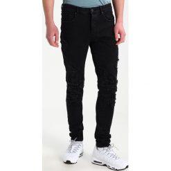 Jeansy męskie regular: Cayler & Sons PANELED INVERTED BIKER PANTS Jeans Skinny Fit black