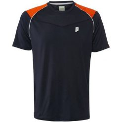 Koszulki sportowe męskie: PRINCE Koszulka męska Shoulder Panel Crew czarna r. L