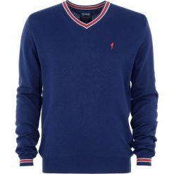 Sweter męski. Czerwone swetry klasyczne męskie Ochnik, m, z bawełny, z klasycznym kołnierzykiem. Za 159,90 zł.