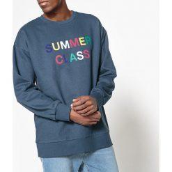 Bluza z okrągłym dekoltem, z napisem. Szare bluzy męskie rozpinane marki La Redoute Collections, m, z bawełny, z kapturem. Za 88,16 zł.