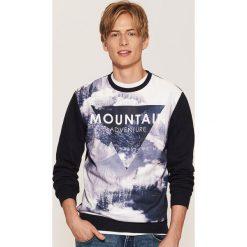 Bluza z fotonadrukiem - Granatowy. Niebieskie bluzy męskie rozpinane marki QUECHUA, m, z elastanu. Za 89,99 zł.