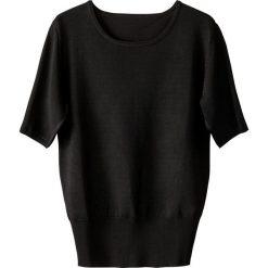 Kardigany damskie: Sweter z okrągłym dekoltem, krótki rękaw