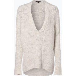 Review - Sweter damski, beżowy. Szare swetry klasyczne damskie marki Review, l, z tkaniny, z okrągłym kołnierzem. Za 219,95 zł.