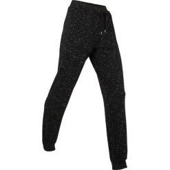 Spodnie sportowe, długie, Level 1 bonprix czarny melanż. Czarne bryczesy damskie bonprix, melanż. Za 109,99 zł.