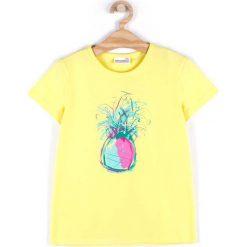Coccodrillo - Top dziecięcy 104-158 cm. Żółte bluzki dziewczęce COCCODRILLO, z nadrukiem, z bawełny, z okrągłym kołnierzem. Za 32,90 zł.