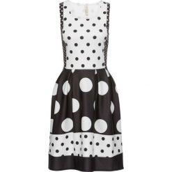 Sukienki hiszpanki: Sukienka w groszki bonprix czarno-biały