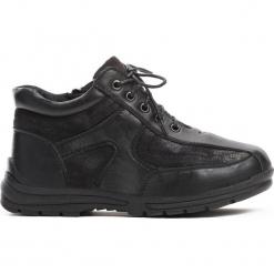 Czarne Traperki Skeptical. Czarne buty zimowe chłopięce Born2be, z materiału, z okrągłym noskiem, na zamek. Za 39,99 zł.