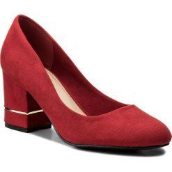 Półbuty JENNY FAIRY - LS4465-01A Czerwony. Czerwone półbuty damskie skórzane Jenny Fairy, eleganckie, na obcasie. Za 89,99 zł.