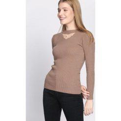 Jasnobrązowy Sweter Automatically. Szare swetry klasyczne damskie Born2be, s, prążkowane. Za 39,99 zł.