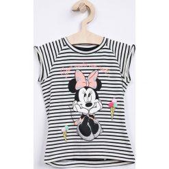 Name it - Top dziecięcy Disney Minnie Mouse 80-110 cm. Szare bluzki dziewczęce bawełniane marki Name it, z motywem z bajki, z okrągłym kołnierzem. Za 89,90 zł.